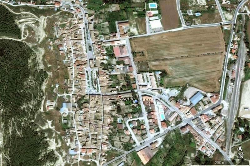 Ayerbe (Google earth 2019-06-24)