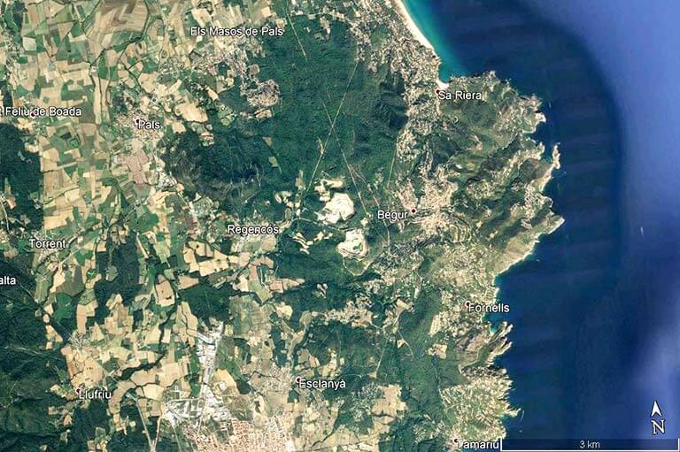Begur (Google earth 2020-04-19)
