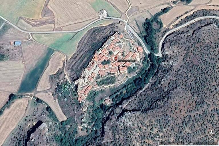 Calatañazor, Soria (Google earth 2021-07-19)
