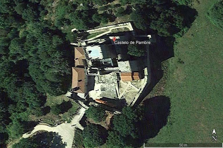 Castelo de Pambre, Lugo (Google earth 2020-10-05)