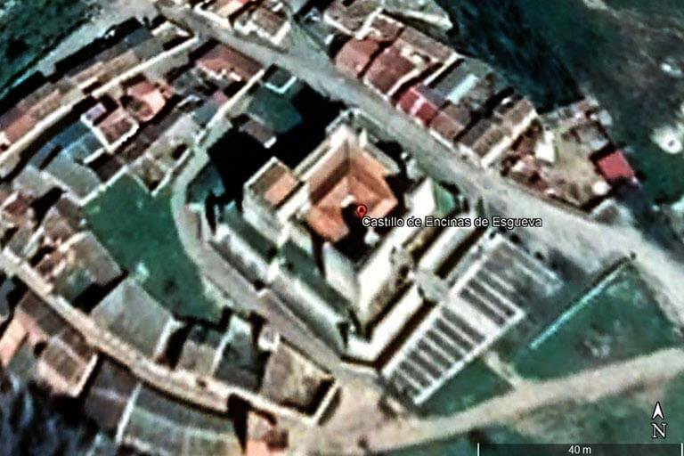 Castillo de Encinas de Esgueva. Valladolid (Google earth 2021-08-03)