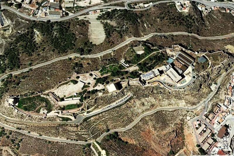 Castillo de Lorca (Google earth 2019-04-17)