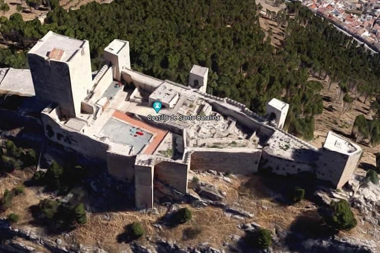 Castillo de Santa Catalina, Jaen (Google maps-2020-08-24)