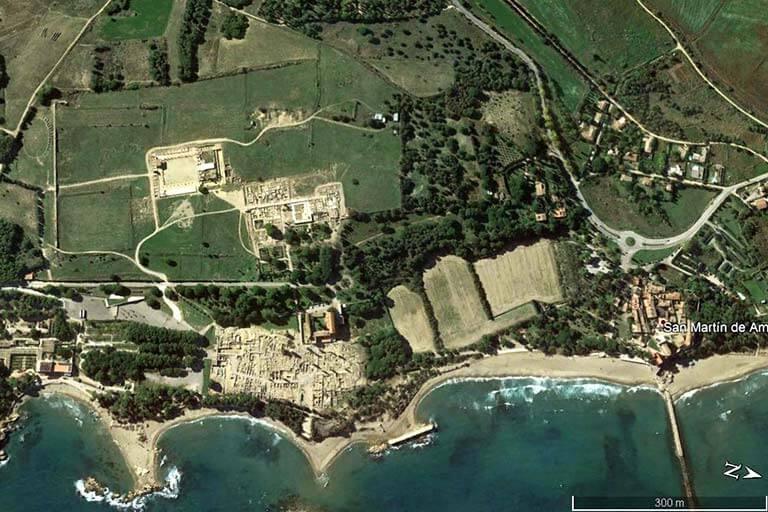 Conjunt Empuries (Google earth -2020-02-25)