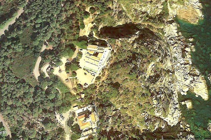 Conjunt monumental de-Sant Sebastià de la Guarda (Google earth 2018-10-12)