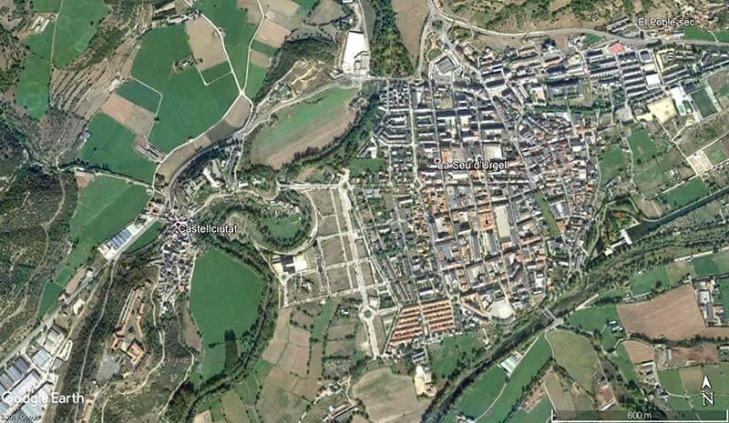 La Seu d'Urgell (Google earth 2018-09-04)