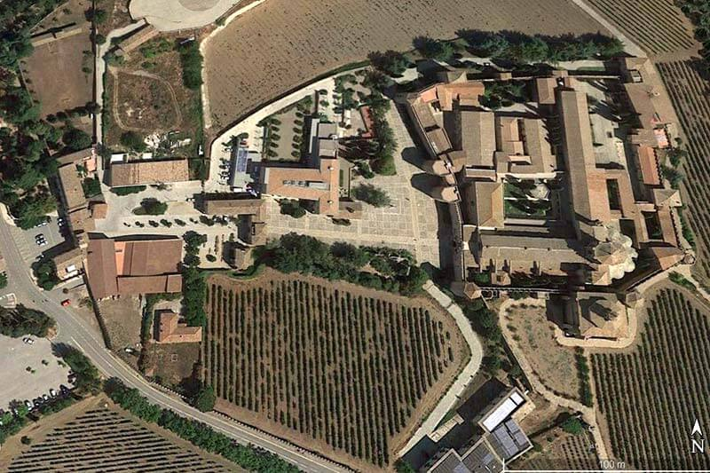 Monestir de Poblet (Google earth 2019-04-04)