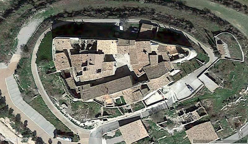 Montfalco Murallat (Google earth 2019-01-05)