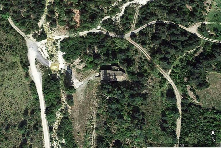 San Adrian de Sasabe, Huesca (Google earth 2021-01-07)