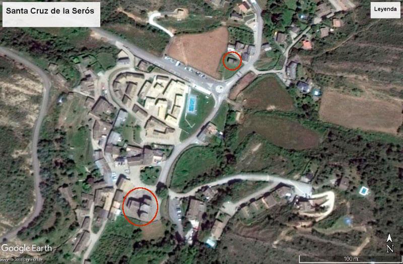 Santa Cruz de la Serós (Google earth 2018-04-14)