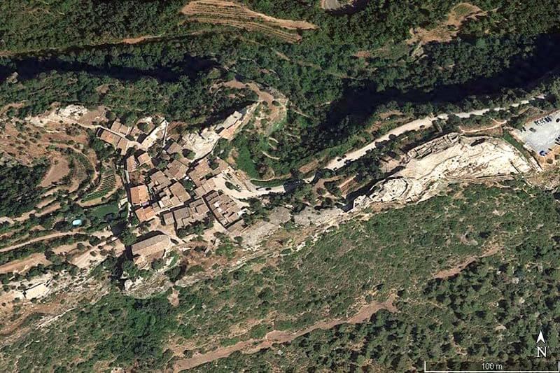 Siurana (Google earth 2019-04-14)