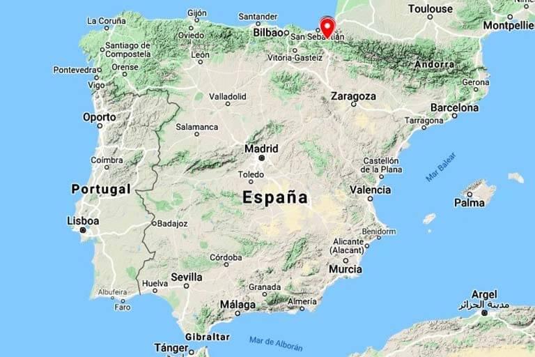 Zubieta, Ituren, Donamaria, Urroz (Google maps 2020-01-20)