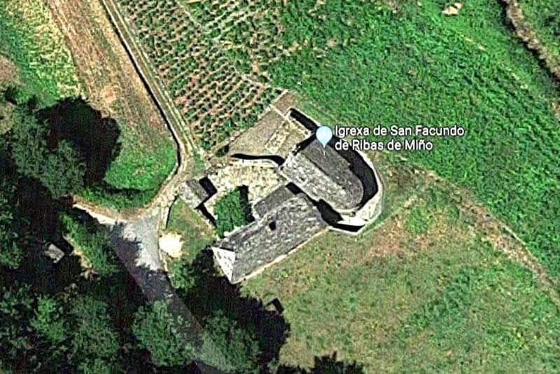 Monasterio de San Facundo de Ribas do Miño (Google maps 2019-02-27)