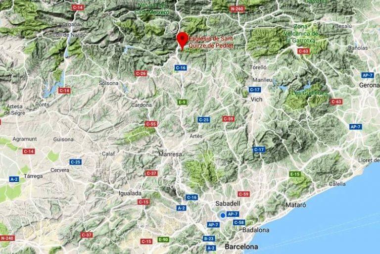 Església de Sant Quirze de Pedret (Google-maps-2018-08-09)