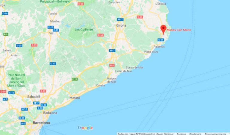 Mapa de situació de Can Mario (Google-maps 2018-04-11)