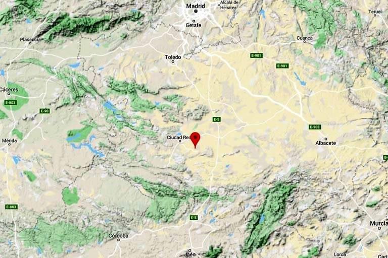 Mapa de situación de Almagro (Google maps 2019-10-21)