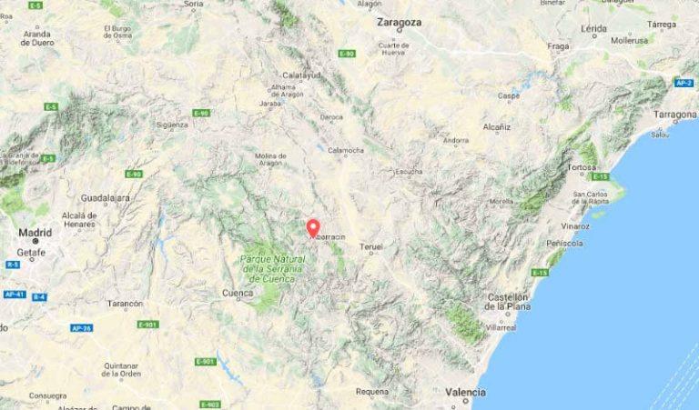 Mapa de situación de El-Batán (Google maps 2018-05-29)