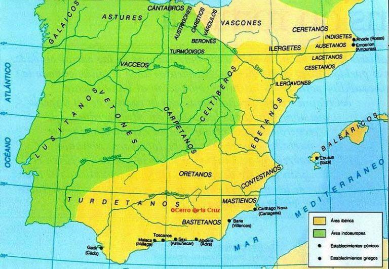 Mapa de situación de El Cerro de la Cruz, Almedinilla