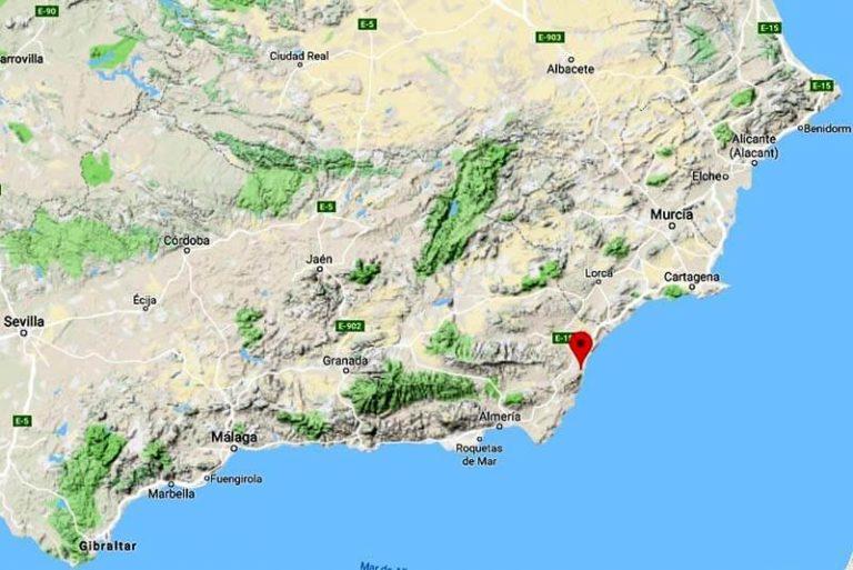 Mapa de situacion de Mojacar (Google maps 2019-05-22)
