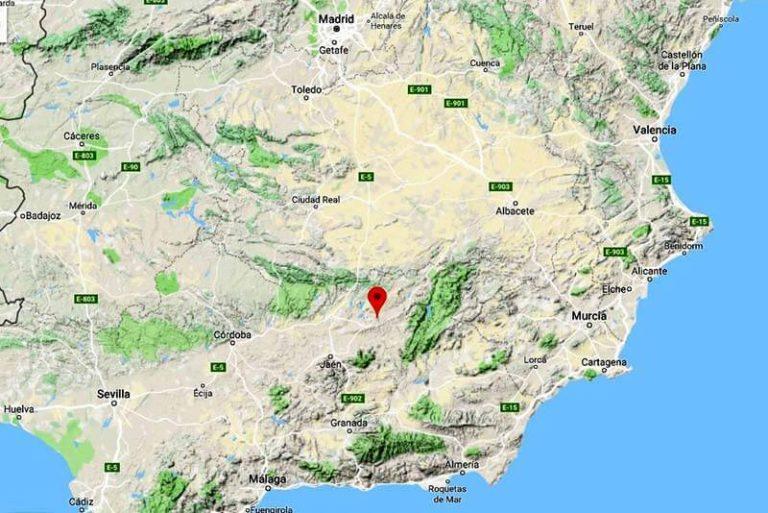 Mapa de situación de Sabiote (Google maps 2018-12-03)