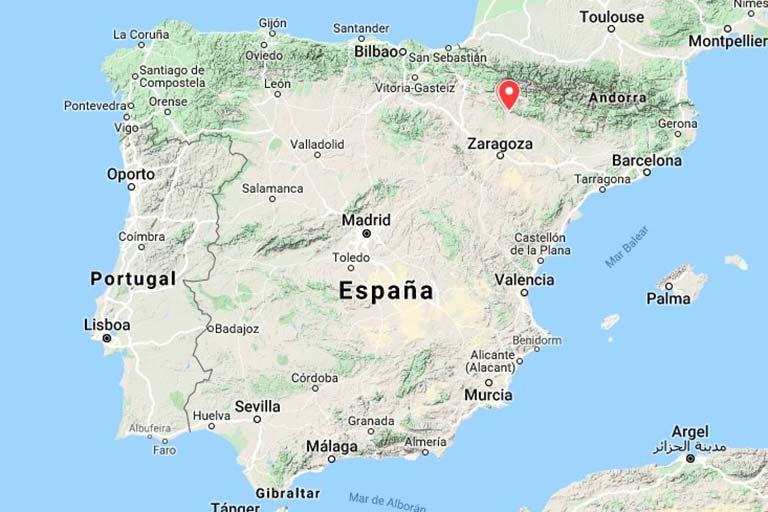 Mapa de situacion Reino de los Mallos(Google maps 2019-12-03)