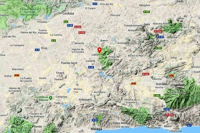 Mapa localización Vaquena (Google map -2018-11-29)