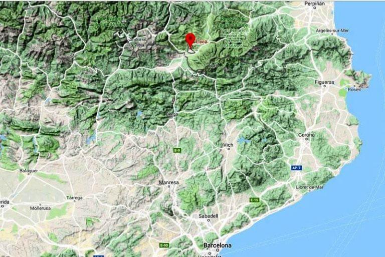 Mapa situació de Llívia (Google maps 2018-12-10)