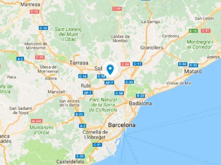 Plano de situación de la Iglesia románica de Santa María de Barberà del Vallès