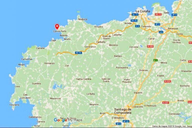 Mapa de situación de Punta Roncudo