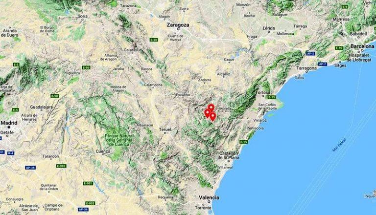 Situacion-de-Mirambel--Cantavieja-Iglesuela-del-Cid-(Google-maps-2018-09-09)