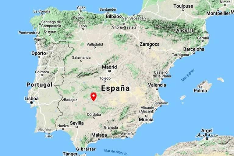 Mapa de situación Almaden(Google maps 2020-03-15)