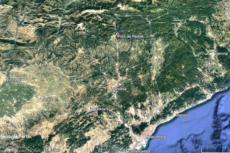 Pont de Pedret Mapa-de-situació-(Google-earth-2018-08-15)