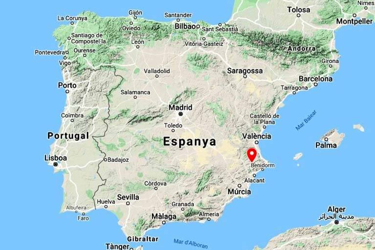 Mapa de situacio de Bocairent (Google maps 2020-02-18)