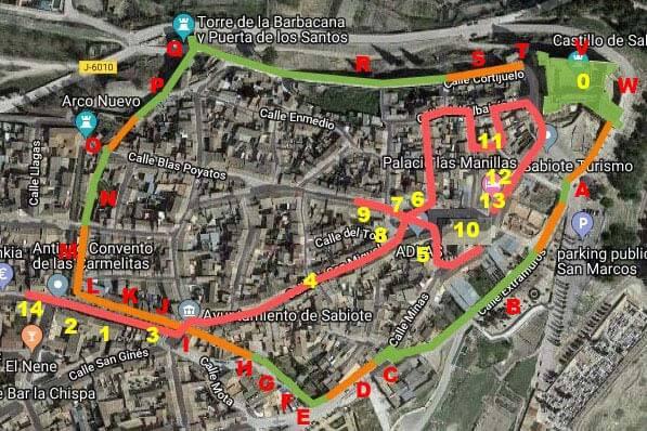 Plano de Sabiote (Google maps 2018-12-08)