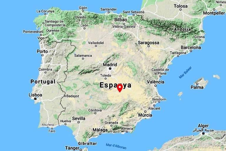 Castillo de Peñarroya (Google maps 2021-01-21)