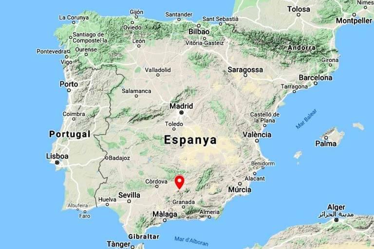 Mapa de situació del Castillo de Santa Catalina, Jaen (Google maps 2020-08-20)