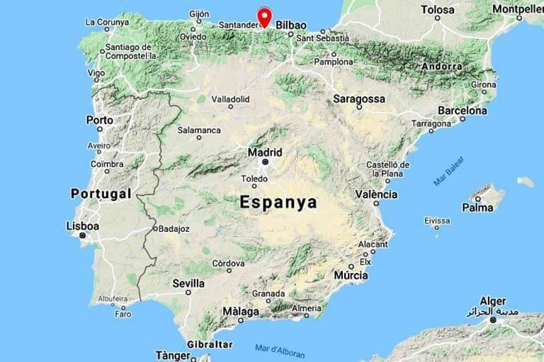 Mapa de situació de Lierganes. Cantabria(Google-maps-2018-08-24)
