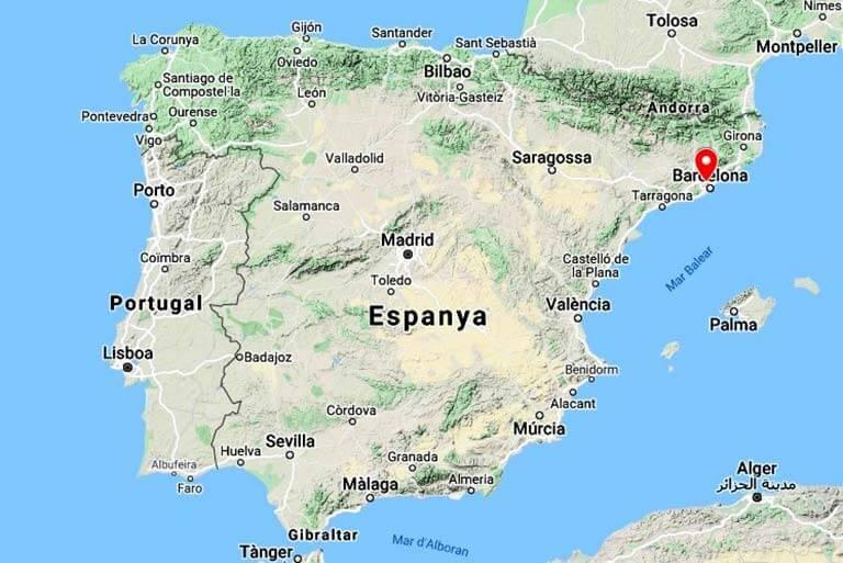 Monestir Sant Cugat del Valles, Barcelona(Google maps 2020-11-11)