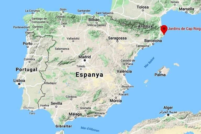 Jardins de Cap Roig Calella de Palafrugell (Google maps 2020-04-06)