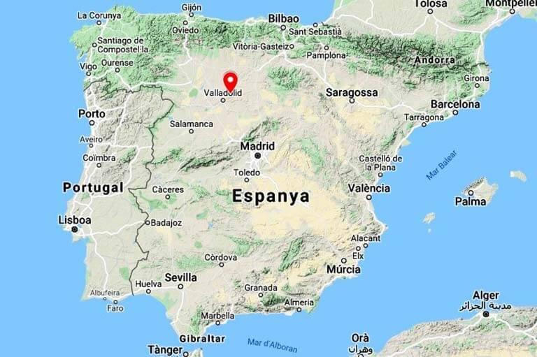 Mapa situació. Vilaria la Buena, Valladolid (Google maps 2021-06-24)