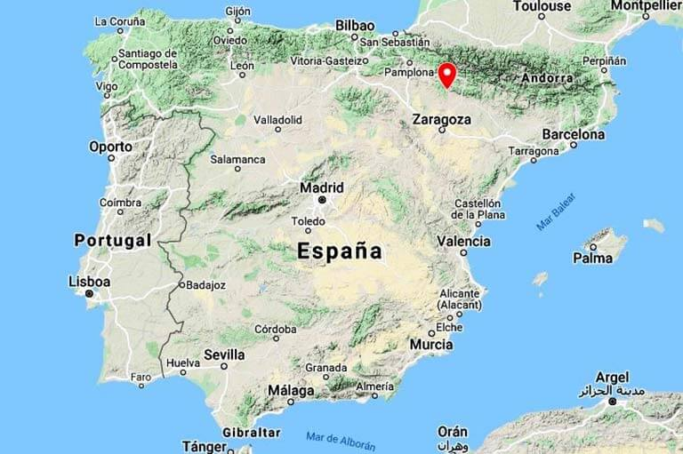 Iglesia de Santiago de Agüero, Huesca (Google maps 2021-04-22)