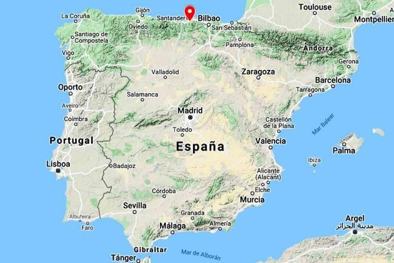 Mapa de situación Lierganes. Cantabria