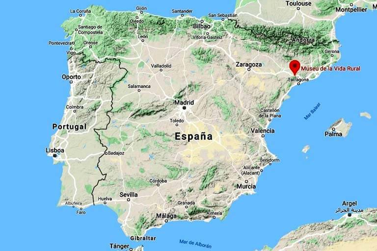 Loccalitzacio del Museu de la Vida Rural (Google-maps-2020-06-12)