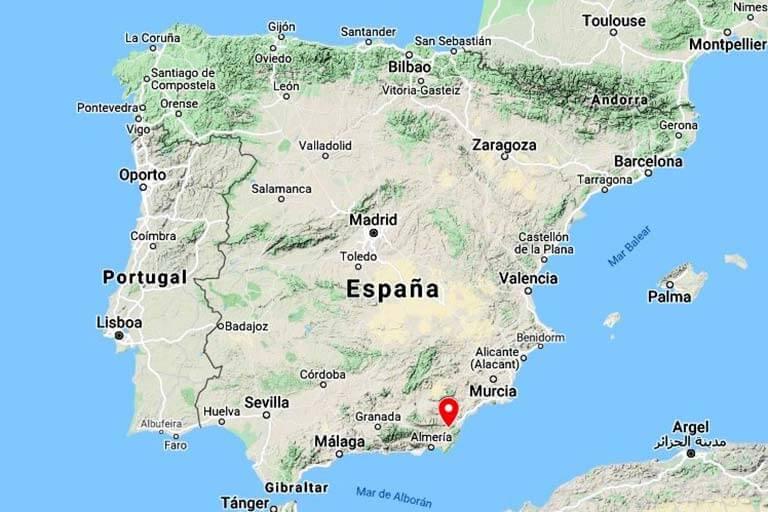 Mapa de localizacion de Lubrin Sorbas (Googe maps 2020-09-21)