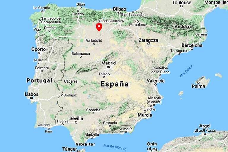 Mapa de situación de Fromista (Google maps 2021-06-23)
