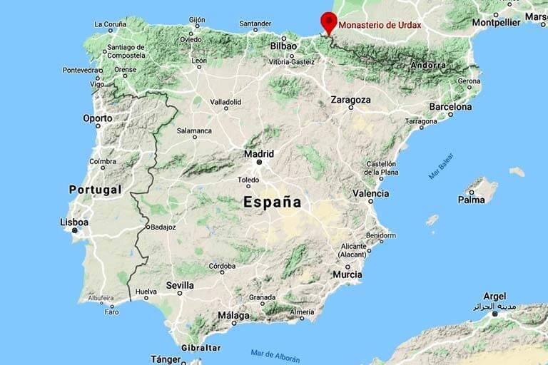 Monasterio de Urdax y Cuevas de Ikaburua (Google maps 2020-04-11)