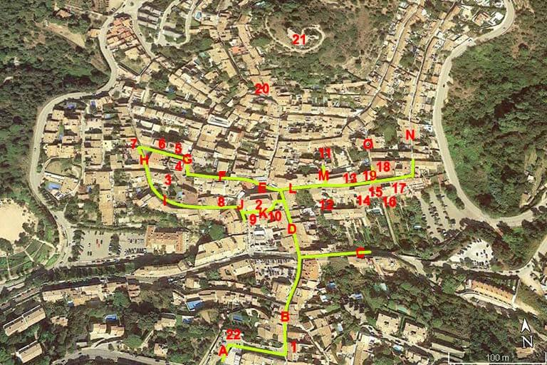 Begur centre (Google earth 2020-04-25)