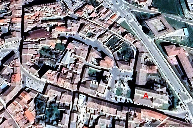 Iglesia de Santa Maria del Camino y Carrion de los Condes, Palencia (Google earth 2021-01-14)
