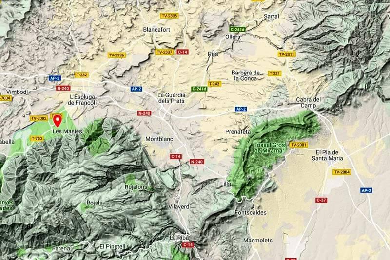 La Conca de Barberà (Google maps 2019-03-06)