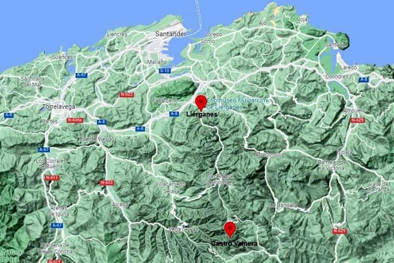 Localizacion de Lierganes, Cantabria (Google maps 2021-09-14)
